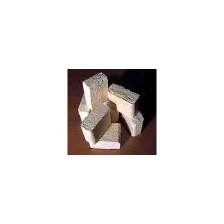 Fyrkants Briketter-Loggs-Träbriketter