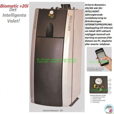 Biomatic +20i-intelligent pelletspanna