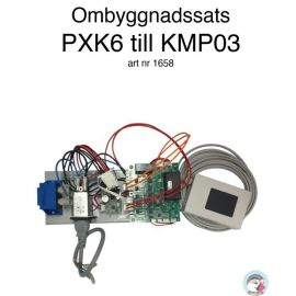 Ombyggnadssats PX-K6 till KMP03 - Skorstensansluten kamin