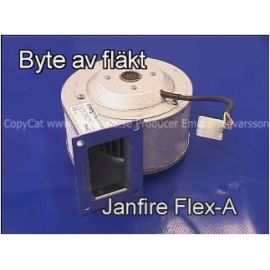 Film byte av fläkt Janfire flex-a